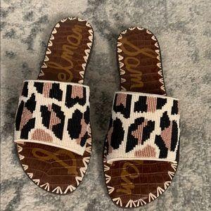 Sam Edelman Leopard Bead Slide - BRAND NEW